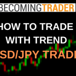 How to Trade Forex with Major Trend Direction - USD/JPY Live Trade