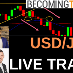 USD/JPY Live Forex Swing Trade & Management