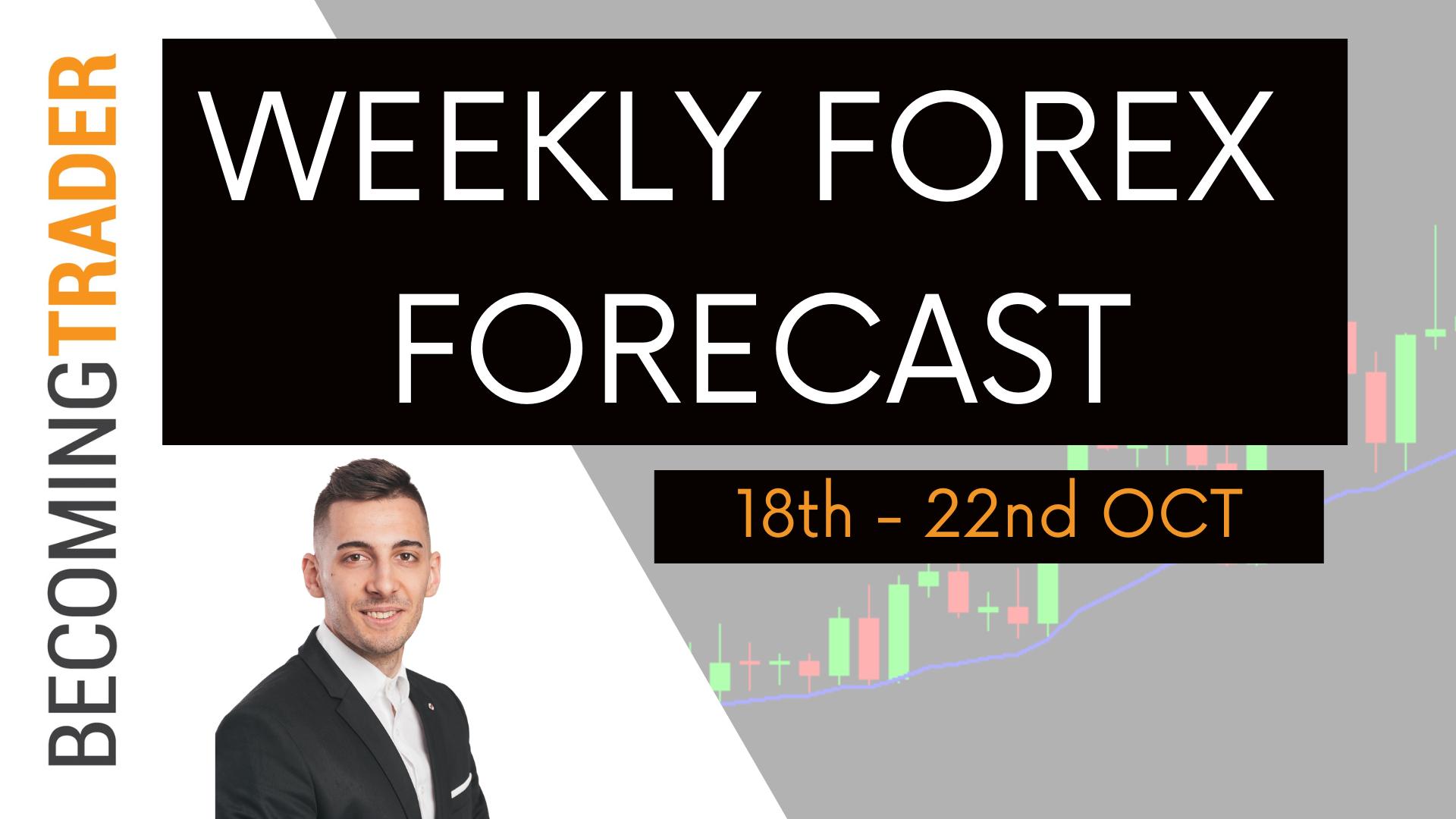 Weekly Forex Forecast 18th to 22nd Oct 2021   EURUSD , GBPUSD , AUDUSD , NZDUSD , USDCAD , USDJPY